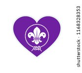 scout symbol. scout love flag.... | Shutterstock .eps vector #1168328353