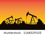 silhouette oil ring  sky... | Shutterstock .eps vector #1168329103