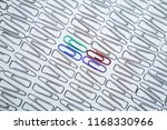 close up of colorful paper clip ... | Shutterstock . vector #1168330966