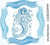 mermaid. vector illustration | Shutterstock .eps vector #1168330999