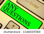 text sign showing any questions.... | Shutterstock . vector #1168335583