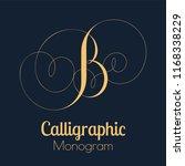 calligraphic monogram letter b... | Shutterstock .eps vector #1168338229