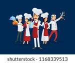 professional kitchen staff... | Shutterstock . vector #1168339513
