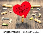 word writing text credit report.... | Shutterstock . vector #1168342663