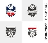 volley ball logo set | Shutterstock .eps vector #1168344403