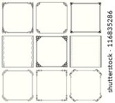 vector decorative frames  set... | Shutterstock .eps vector #116835286