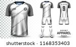 soccer jersey and football kit... | Shutterstock .eps vector #1168353403