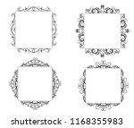 vintage vector swirl frame set | Shutterstock .eps vector #1168355983