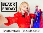 beautiful blonde cheerful woman ... | Shutterstock . vector #1168356310