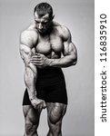 portrait of muscle man posing... | Shutterstock . vector #116835910