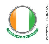 ivory coast flag button. ivory... | Shutterstock .eps vector #1168364233