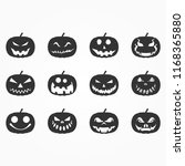 halloween pumpkins icon  | Shutterstock .eps vector #1168365880