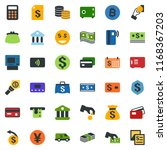colored vector icon set  ... | Shutterstock .eps vector #1168367203