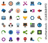colored vector icon set  ... | Shutterstock .eps vector #1168368493