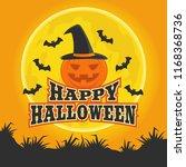 happy halloween with pumpkin... | Shutterstock .eps vector #1168368736