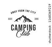 creative camping concept logo... | Shutterstock .eps vector #1168369219