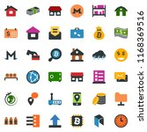 colored vector icon set   barn... | Shutterstock .eps vector #1168369516