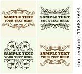 vector decorative text frames | Shutterstock .eps vector #116837644