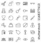 thin line vector icon set  ... | Shutterstock .eps vector #1168377613