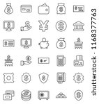 thin line vector icon set  ... | Shutterstock .eps vector #1168377763