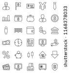 thin line vector icon set  ... | Shutterstock .eps vector #1168378033