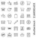 thin line vector icon set   pen ... | Shutterstock .eps vector #1168381633