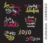 valentine s day set with love...   Shutterstock .eps vector #1168381813