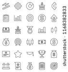thin line vector icon set  ... | Shutterstock .eps vector #1168382833