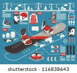 snowboard info graphic elements ... | Shutterstock .eps vector #116838643