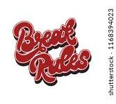 break rules . vector hand drawn ... | Shutterstock .eps vector #1168394023