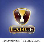 shiny emblem with trophy icon... | Shutterstock .eps vector #1168396693