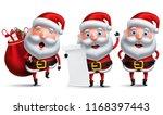 santa claus vector character... | Shutterstock .eps vector #1168397443