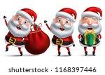 santa claus christmas vector... | Shutterstock .eps vector #1168397446