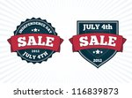 independence day july 4th big... | Shutterstock .eps vector #116839873
