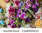beautiful flower decorate... | Shutterstock . vector #1168404613