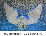 beautiful flower decorate... | Shutterstock . vector #1168404640