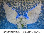 beautiful flower decorate... | Shutterstock . vector #1168404643