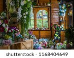 beautiful flower decorate... | Shutterstock . vector #1168404649