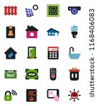 color and black flat icon set   ... | Shutterstock .eps vector #1168406083