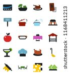 color and black flat icon set   ... | Shutterstock .eps vector #1168411213