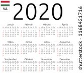 simple annual 2020 year wall... | Shutterstock .eps vector #1168421716