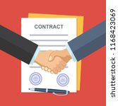 business partner handshake deal ... | Shutterstock .eps vector #1168423069