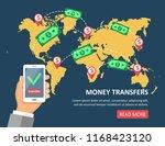 online money transfer concept... | Shutterstock .eps vector #1168423120