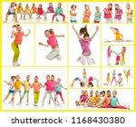 the kids dance school  ballet ... | Shutterstock . vector #1168430380