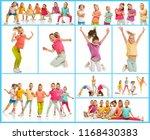 the kids dance school  ballet ...   Shutterstock . vector #1168430383