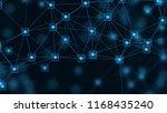 blockchain network concept... | Shutterstock . vector #1168435240