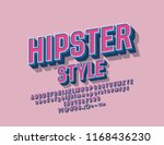 vector hipster vintage alphabet.... | Shutterstock .eps vector #1168436230
