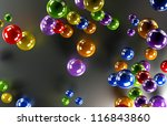 colored balls on a frosted... | Shutterstock . vector #116843860