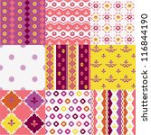 selection of cheerful geometric ... | Shutterstock .eps vector #116844190