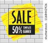 vectorbig sale banner template... | Shutterstock .eps vector #1168442926